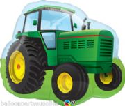 "34"" Farm Tractor Foil Super Shape Balloon Childrens Party   # 29666"
